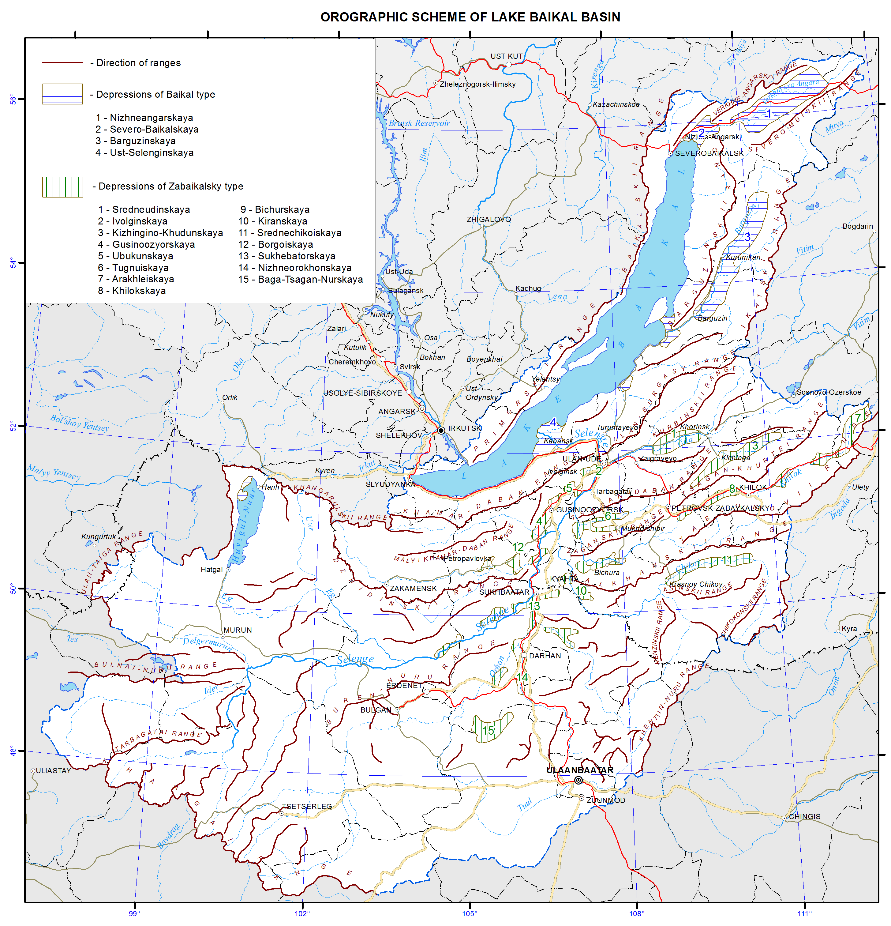 Diagram Collection Lake Baikal Location Map Download More Maps - Location map ust