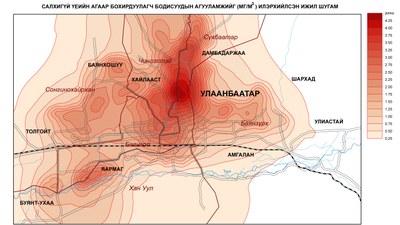 88-3. Улаанбаатар хотын агаар дахь бохирдуулах бодисын агууламж (Салхигүй үед)