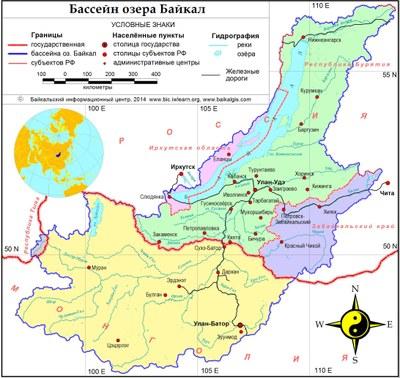 Карта_бассейнБайкала